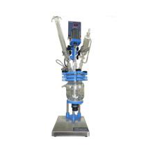 5л химический стеклянный реактор/ двойной подкладке рубашкой стеклянный реактор для перегонки,смешивания и реакции