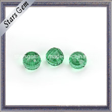Emerald Color Facets Cut Round Crystal Glass