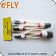 5 PCS Beige Bristle wooden handle Round Paint Brush Set