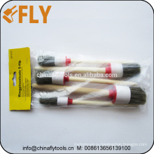 5 шт бежевый щетины деревянной ручкой круглый щетки краски