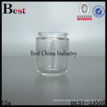 15g glass small cosmetic containers with screw cap, silk printing service, free sample