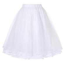Belle Poque Women's Luxury Retro Dress Vintage Dress 3 Layers Tulle Netting Crinoline Underskirt Petticoat BP000229-2