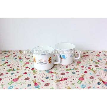 12cm(900ml) color body enamel mugs