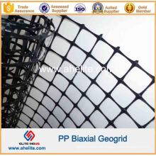 Construcción de carreteras PP Biaxial Geogrid 30knx30kn