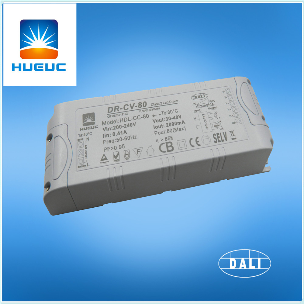 80w Plastic Dali Dimmable Led Driver