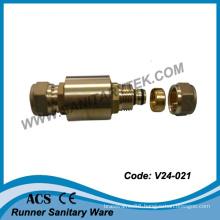 Brass Check Valve with Pex-Al-Pex Pipe Connector (V24-021)