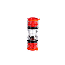Portable tube fitting coupling multi size resistant plastic easy observe micro-duct straight fitting