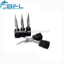 Herramientas de corte de biselado de carburo de tungsteno BFL / carburo sólido personalizado molino de chaflán
