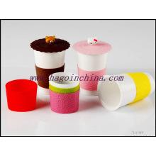 Nahrungsmittelgrad-hitzebeständige Silikon-Gummi-Flaschenhülse