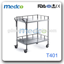 stainless steel medicial cart ,food transport cart for hospital T401