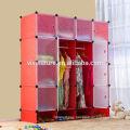 DIY 20 Interlocking Storage DEEP Cube Closet with Door