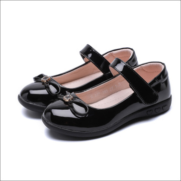 Girl Black Leather Dance Shoes