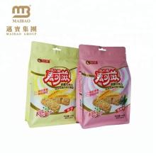 Custom Printed Biodegradable Food Grade Cookies Aluminum Foil Packaging Mylar Ziplock Plastic Bags With Euro Hole