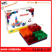 Playmags Nouveaux blocs de mosaïque de construction magnétique Jeux 3D Intelligence 14pcs Sets