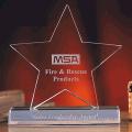 Prêmios de cristal de troféus de estrela-gravura livre