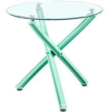 Wholesale cheap China furniture modern scandinave cross leg plastic class dining table