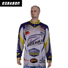 Wholesale Polyester Heat Transfer Printing Custom Design Fishing Shirts