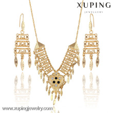 63611 Xuping fashion Bridal 18k gold color earring and necklace sets