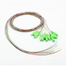 Cable óptico de fibra de 0,9 mm Sc / APC 12