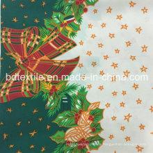 100% poliéster tejido impreso, Mini Matt para 2016 ropa de tela de Navidad, Hometextile, cortinas