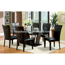 Black series wooden dining table and chair set XYN1475
