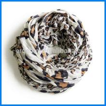 Women viscose russian scarf leopard printing