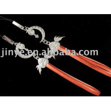 Fashion crystal leather hand strap for valentine's gift