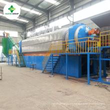 Sin neumático de residuos continuo / máquina de reciclaje de caucho con tren de ingenieros e instalación