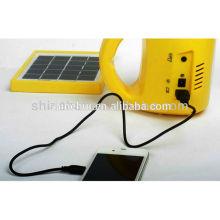 Vida útil larga 50000hours precio bajo llevado linterna de camping solar, luz de camping solar
