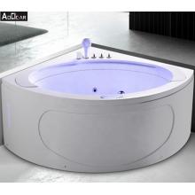 Aokeliya acrylic modern fancy whirlpool massage corner bath tub for two person