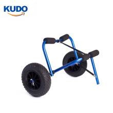 Stainless aluminum tube caone cart kayak trolley with rubber pad