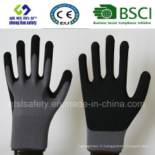 13 Gauge Nylon Liner, Nitrile Coating, Sandy Finish Safety Work Guards