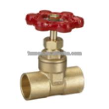 Brass Gate Valve standard port Lead free 200PSI weld end