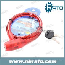 Serrure à câble en bobine en acier RBL-104
