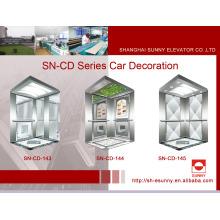 Cabina de ascensor con el panel lateral de la línea del pelo (SN-CD-143)