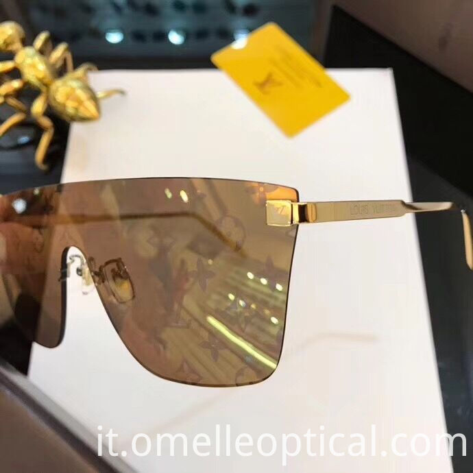 Rimless Sunglasses Colored