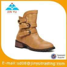 Sassy Tan Lady Plattform Stiefel Schuhe