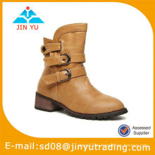 Sassy Tan Lady Platform Botas Zapatos
