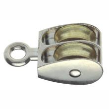 Metall-Hardware Zink-Legierung Riemenscheiben Starres Auge mit Doppelrad