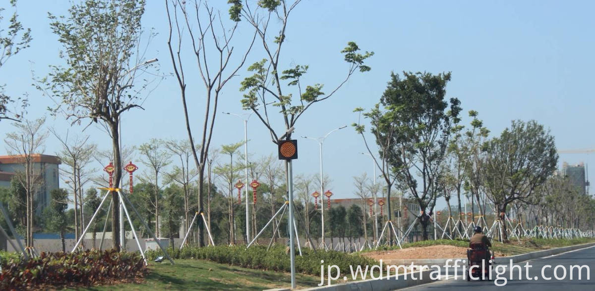 300mm solar traffic light