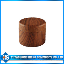 Doppeltes Holzfarbenglas mit innerem Deckel