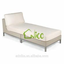 outdoor rattan wicker lounge sunbed