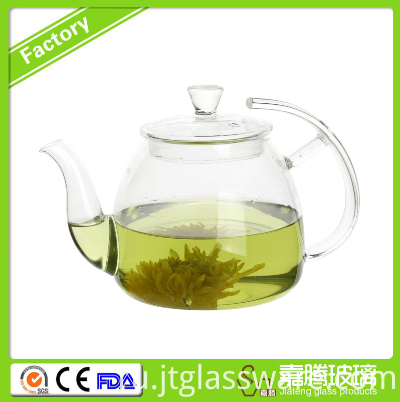 thermal flower glass teapot