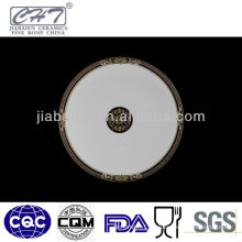 A030 wholesale gold rimmed bone china dinner plates for restaurant