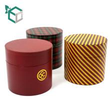 Glatte Laminierungs-Druckbehandlung und aufbereitete Materialien Eigenschaft Runde Zylinder Weihnachtsgeschenkbox