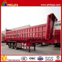 3 Axles 50 Tons Rear Tipper Trailer with Volume Opptional