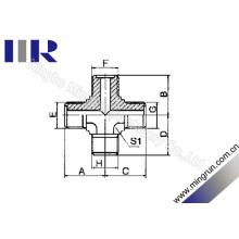 Adaptador hidráulico do tubo transversal métrico masculino do O-Anel (XE)