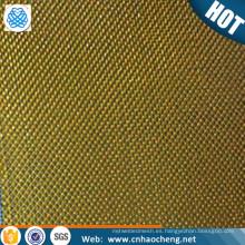Rfid que bloquea la tela de malla de alambre del filtro de combustible del latón para imprimir la malla de cobre amarillo de protección