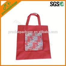 bolso de compras plegable reutilizable de la cartera para hacer compras y la promoción