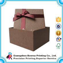 Embalaje de papel de lujo para reloj con esponja